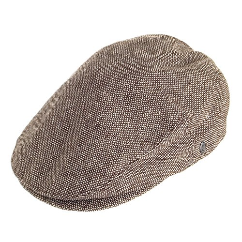 Casquette Plate en Marl Tweed marron JAXON & JAMES Marron