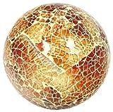 Glas Mosaikkugel, klein, Orange/Bernstein