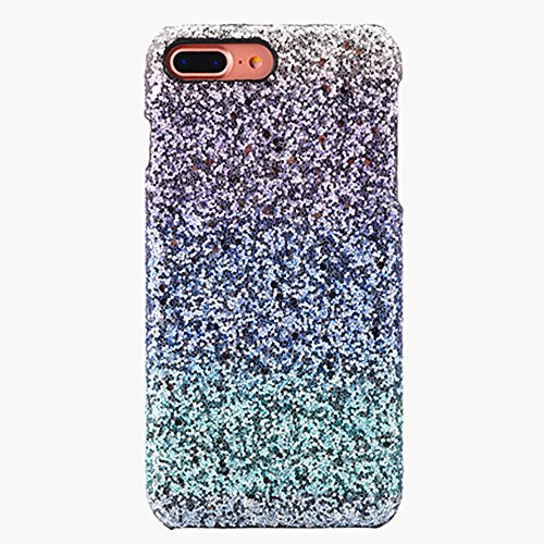 iPhone7 Plus Handyhülle,Dewanxin 2018 Stilvoll Luxus Gradient Farbe Ultra Dünnen Glänzend Sparkles Bling Flexibel Stoßfest PC Telefon-Kasten Protective Case Cover (iPhone7 Plus Handyhülle, Blau)