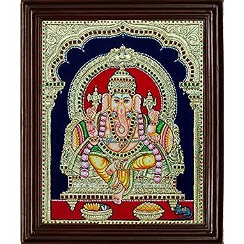 MyAngadi Traditional Thiruchendur Murugan Tanjore Painting