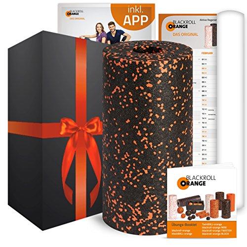 blackroll-orange Geschenkedition mit Massagerolle STANDARD, Übungsbooklet, Übungsposter und optionale kostenlose App