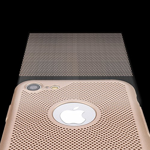 Hülle Für iPhone 6S [Non-Slip], Vandot [Wärmeableitung] Premium Bumper Fall mit breathable Air-Mesh Schock Absorption Drop Protection Case Hybrid Snap-on Starr PC Hard Back Cover Case für iPhone 6S Ha Gold