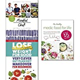 mindful chef [hardcover], lose weight for good very clever gut plan diet makeover for beginners and medic food for life 3 books collection set - 30-minute meals. gluten free. no refined carbs. 10 ingredients, mend your gut and unlock the secrets of rapid weight loss, meals in 15 minutes: easy 15 minute recipe book to help you live well every day with low-calorie meals
