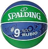 Spalding Ball NBA Player Ricky Rubio 83–381z, Verde/Marino, 7, 3001586010517