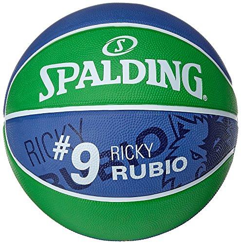 Spalding Ball NBA Player Ricky Rubio 83-403Z, grün/Marine, 5, 3001586010515