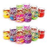 #7: ShadowFax Mini Gel Candle Glass 2.5cm Multicolor Set of 24