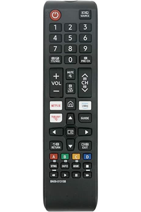 VINABTY BN59-01315B - Mando a distancia de repuesto para Samsung con botones para Netflix, Prime Video, Raukten, canales de TV Item Title UE55RU7102K UE55RU7105K UE55RU7170S UE55RU7170U UE55RU7172U: Amazon.es: Electrónica