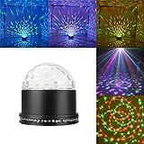 KUNFO LED Lichteffekte Discokugel RGB Lampe Stimmenaktiviert Bühnenbeleuchtung Kristall Magic Ball Deko Bühnenlicht Projektor DJ Party Licht für Party Kindergeburtstag Weihnachtsparty (Schwarz)