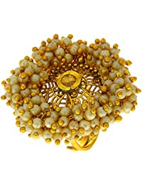 Anuradha Art Golden Finish Very Classy Trendy Look With This Traditional Finger Ring For Women/Girls