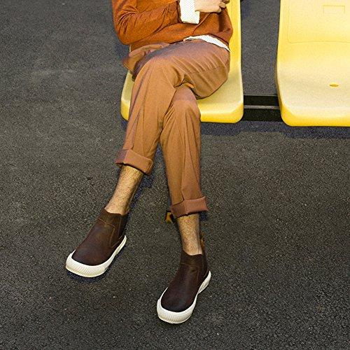 QIANGDA Scarpe Invernali Stivaletti Studente Di Sesso Maschile Tempo Libero Antiscivolo Sudore Assorbimento Di Umidità Autunno D'inverno, 3 Colori Opzionale ( Colore : Caffe'colore , dimensioni : EU41 Caffe'colore