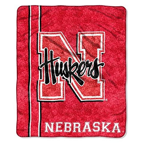NCAA Nebraska Cornhuskers 50-Inch-by-60-Inch Sherpa on Sherpa Throw Blanket Jersey Design by Northwest