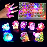 Maikerry Lumière de Doigt Finger Light Lumières de Noël Lumières de LED Lumière pour la Veille du Nouvel An pour des Raves, des Parties et d'autres Evénements de Temps de Nuit - Modèles Mignons Variés