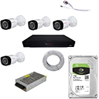 CP PLUS Full HD 5MP Cameras Combo KIT 4CH HD DVR+ 4 Bullet Cameras+1TB Hard DISC+ Wire ROLL +Supply & All Required CONNECTORS