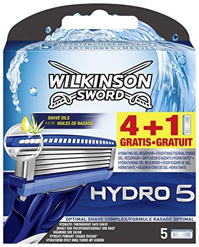 Wilkinson Sword Hydro 5 Klingen, 4 Stück + 1 gratis