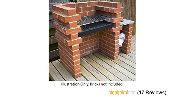 Marko Outdoor Brick BBQ DIY Kit Charcoal Barbecue Chrome
