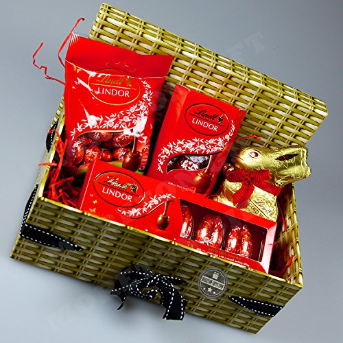 Lindt Easter Gift Box � Gold Bunny, Lindor Truffles and Eggs � By Moreton Gifts