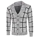 Ode Joy Cardigan da uomo con cardigan in risvolto lavorato a maglia calda  bottoni Outwear Polar Button cb204c460b6