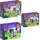 Lego Friends 3er Set 41112 41113 41114 Partykuchen + Party-Geschenkeladen + Partystyling