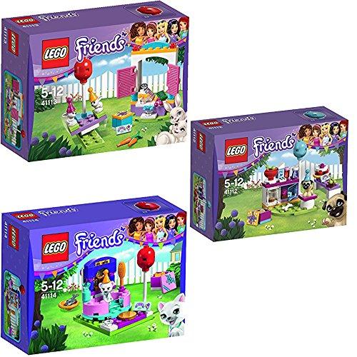 Preisvergleich Produktbild Lego Friends 3er Set 41112 41113 41114 Partykuchen + Party-Geschenkeladen + Partystyling