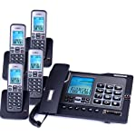 Dr. Cordless telephone extension HD sound quality telephone landline cordless base home landline one for two, drag three...
