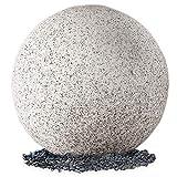 Leuchtkugel Gartenleuchte LED Kugelleuchte Ø50cm für Außen IP65 in Natur-Stein Optik Granit matt mit OSRAM 10W E27 LED warmweiß Wegeleuchte inkl. 3m Kabel