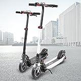 E-Scooter eFlux Lite 5 350W Elektro Aluminium Faltbarer Elektroroller Tretroller Roller Ultraleicht 10,4Ah Lithium Ionen Akku (Weiß)