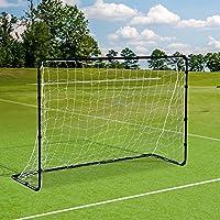 Cage de foot but de foot 183L x 61l x 122H cm acier filet PE blanc noir 03