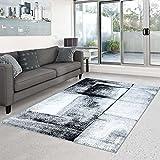 carpet city Teppich Moda Flachflor Modernes Abstraktes Design türkis Grau Wohnzimmer Neu, Größe in cm:160 x 225 cm;Farbe:Grau