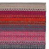 """URBANARA Teppich """"Aonla"""" – 100% Baumwolle, Pink/Grau/Türkis mit ethnischen Mustern – 170 x 240 cm Baumwollteppich fürs Wohnzimmer/Schlafzimmer/Kinderzimmer"""