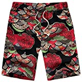 MAYOGO Herren Bunt Boxershorts Badeshorts Beachshorts Boardshorts Strand Shorts Männer Bandage Lace Up Badehose Men's Feiertags Lässige Camouflage Beach Schwimmen Shorts