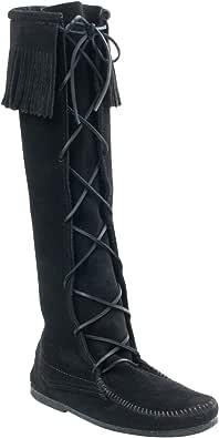 Minnetonka Front Lace Hardsole Knee Hi, Bottes Indiennes Homme