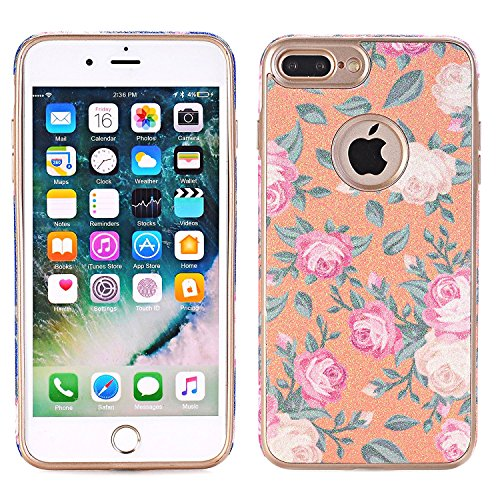iPhone 7Case, elecfan Flower Pattern Soft Cover Shell Phone Skin Super Slim Screen Protective Smart Case for Apple Iphone 74.7inch A02