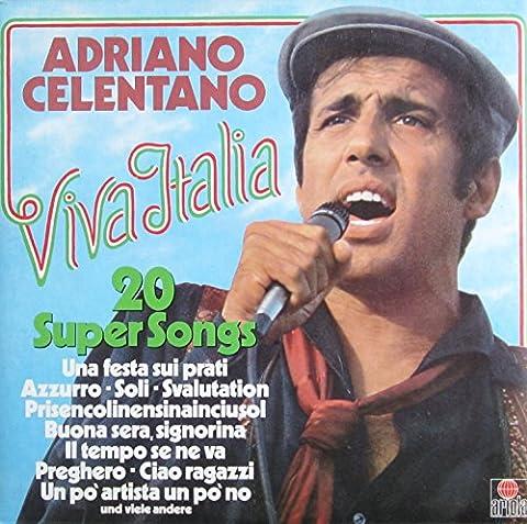 Viva Italia-20 super songs (Azurro..) / Vinyl record [Vinyl-LP] (Adriano Celentano Songs)