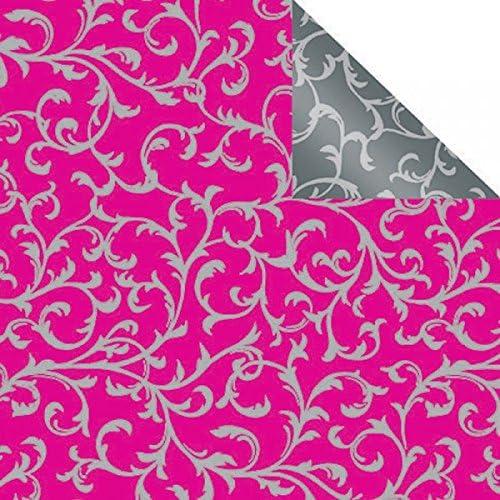 Lochner verpackung rouleau de papier cadeau double double double face rose/gris | Formes élégantes  b90181