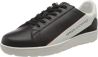 ARMANI EXCHANGE Leather Plain Sneakers, Scarpe da Ginnastica Uomo