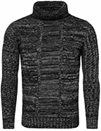 Carisma Men Turtleneck Knitted Jumper REWIND Knitting pattern melange easily kombinierbar