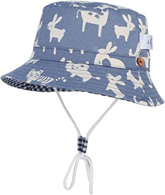 Cloud Kids Chapeau Bob Bébé Enfant Chapeau de Soleil Unisexe en Coton Pliable Protection Anti-UV Solaire Plage Été Voyage