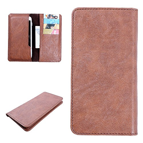 For Lava Iris 404 Flair - DooDa PU Leather High Quality Pouch Case Cover Sleeve With Card Slots, Scratch-Free Soft Inner Velvet With Complete Drop Protection  available at amazon for Rs.199