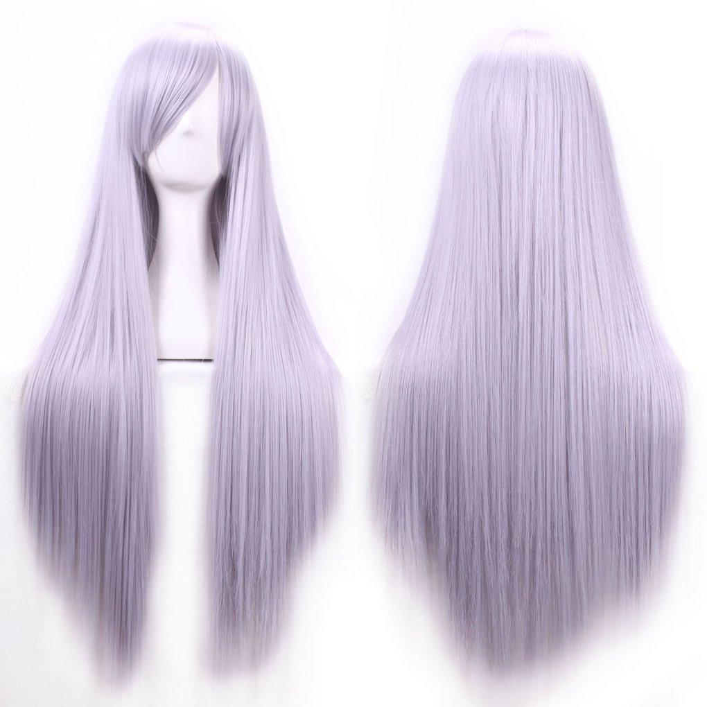 Zinsale 32″ larga recta Cosplay pelucas Natural resistente al calor sintético Lolita Anime postizo