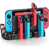 KDD Chargeur Joy-Con pour Nintendo Switch/Switch OLED, Station de Charge pour Manette Nintendo Switch avec 8 Emplacements de