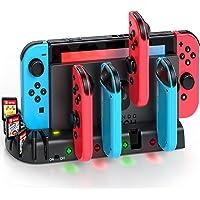 KDD Chargeur Joy-Con pour Nintendo Switch/Switch OLED, Station de Charge pour Manette Nintendo Switch avec 8…