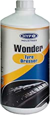 Hypo Indusries Wonder Tyre Polish/Dresser / Black Shiner/Cleaner for Car & Motorbike.1 Liter