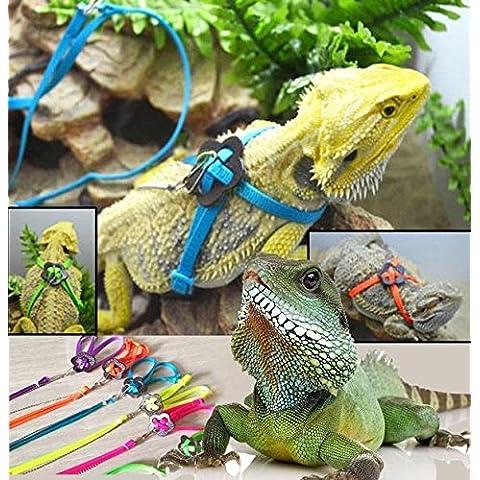 Bargain World Genérica reptil lagarto del arnés del correo correa ajustable para mascotas