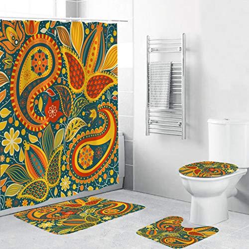 Ost Orient Muster Badezimmer Dekor Marokkanischer Duschvorhang 175x200cm