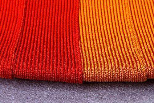 HLBandage Gradient Multicolor Off Shoulder Colorful Rayon Bandage Dress Blanc