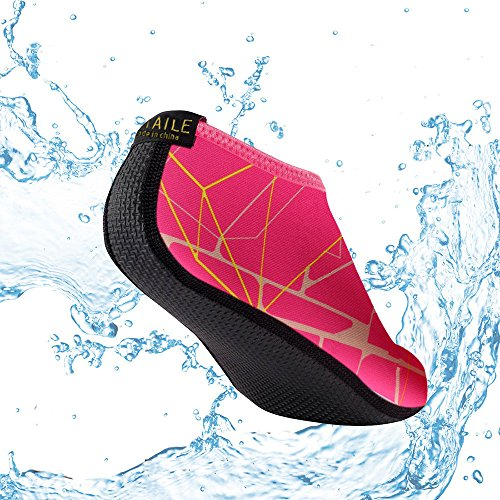 SITAILE Scarpe da Mare Scarpette di Aqua da Surf da Spiaggia per Sportive Acquatici per da Abbigliamento bambini Donna Uomo Rosa