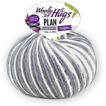 Woolly Hugs Plan Fb. 85, 100g Merinowolle extrafein mit Baumwolle ...