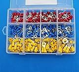 raogoodcx 300pcs aislante Terminal anillo cable eléctrico Crimp Conectores Set, amarillo, azul, rojo