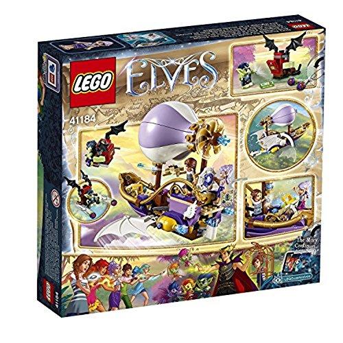 LEGO – 41184 – Elves – Jeu de Construction – Le Dirigeable d'Aira et la Poursuite de l'Amulette