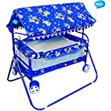 Avani Baby Crib and Cradle (Blue)